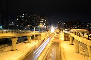 Bill Clinton Boulevard - Image: Prishtina At Night