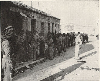 Mafraq - Prisoners of war being escorted to the military base in Mafraq in 1948