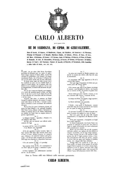 File:Proclama di Carlo Alberto re di Sardegna per l'adozione delle basi del nuovo Statuto del Regno.djvu