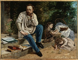 Social anarchism - Proudhon and his children, by Gustave Courbet, 1865