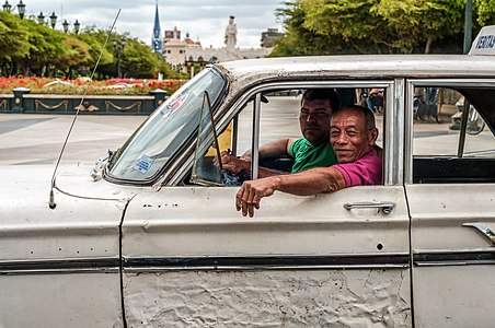 Public transport share taxi in Maracaibo city, Zulia, Venezuela