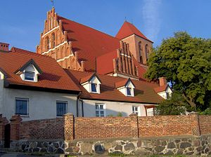 Puck, Poland - 13th century Gothic church in Puck
