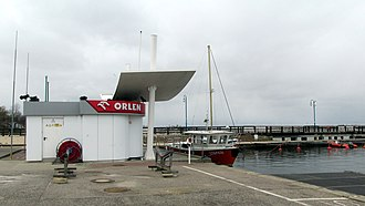 Filling station - Orlen station for refueling boats, Poland