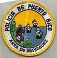 Puerto Rico - area de Mayaguez - police patch.jpg