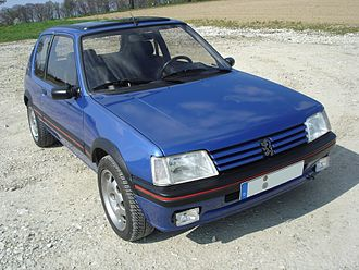 Hot hatch - Image: Pug 205gti vorn