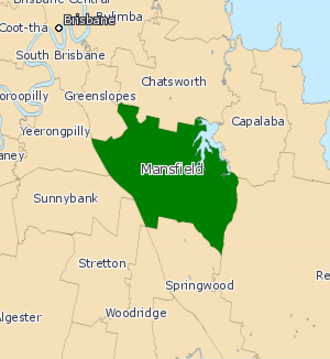 Electoral district of Mansfield - Electoral map of Mansfield 2008