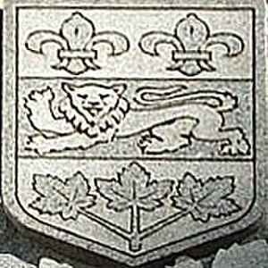 Coat of arms of Quebec - Old coat of arms of Quebec from the Wilfrid Laurier monument