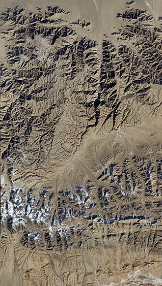 Qinghai - Satellite image of Qinghai.