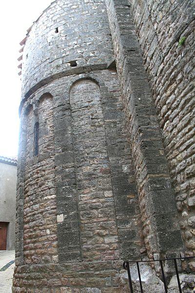 Quarante (Hérault) - abside de l'église Sainte-Marie