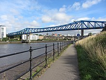Queen Elizabeth II bridge and River Tyne (geograph 3639295).jpg