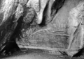 Queensland State Archives 1323 Aboriginal writing Markham Cave Mungana c 1935.png
