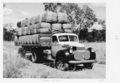 Queensland State Archives 5036 Wool bales being trucked from Rockwood 1952.png