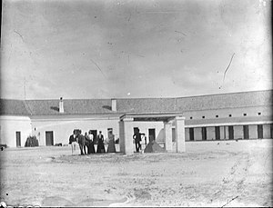 Colonial buildings of Rottnest Island - Visitors to the prison, c.1900-1910