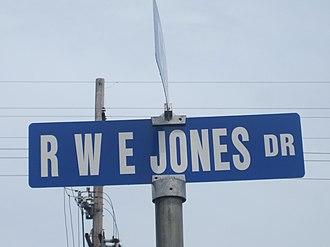 Ralph Waldo Emerson Jones - RWE Jones Drive, named for former Grambling State University President Ralph Waldo Emerson Jones, is one of the main thoroughfares in Grambling.