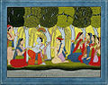 Radha and Krsna Seated in a Grove with Gopis and Gopas.jpg
