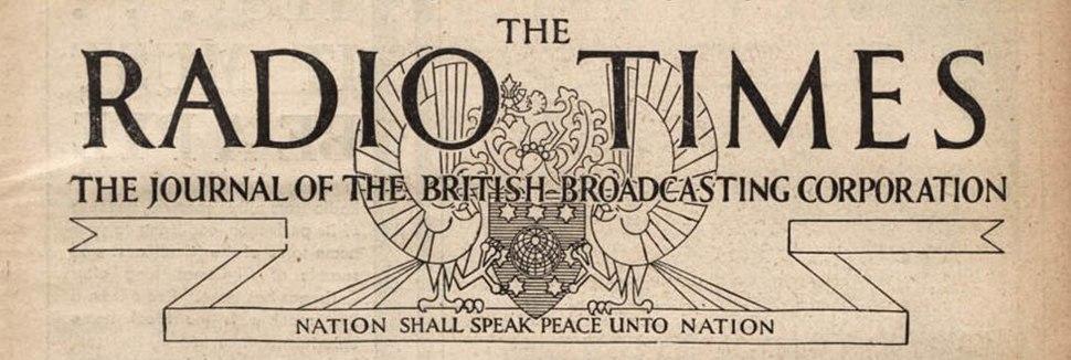 Radio Times 1931 (masthead)