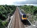 Railway Line With Train - geograph.org.uk - 494694.jpg