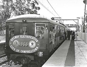 Glenfield railway station, Sydney - Platform 3 in 1968
