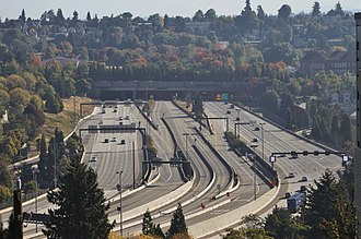 Judkins Park station - The Rainier Freeway Station, seen from the west