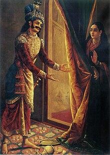 Raja Ravi Varma, Keechaka och Sairandhri, 1890.jpg