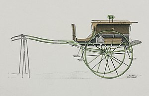 Ralli car - Early 20th-century picture of a Ralli car, showing the vehicle's characteristic outward-curving sides