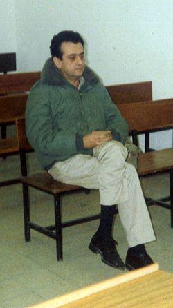 רמי דותן בזמן משפטו בבית הדין הצבאי המיוחד בתל אביב, דצמבר 1990