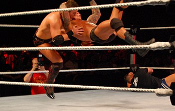 Randy Orton RKO a Miz