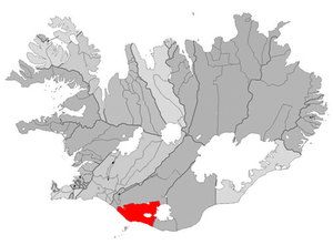 Hvolsvöllur - Image: Rangarthing eystra map