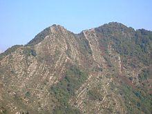 Il Manico del Lume, la più alta vetta del territorio rapallese, con 801 m.