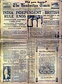 Rare photograph of Hindustan Times Newspaper when India got its Independence from Britishers..!!.jpg