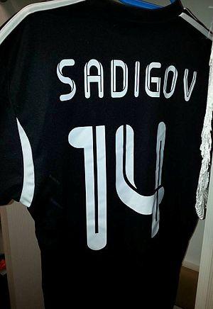 Rashad Sadygov - Rashad Sadygov's Qarabag shirt in the 2013–14 season.