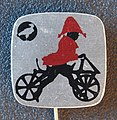 Reclamespeldje van een oud model fiets foto 1.JPG