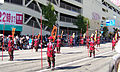 Red-armored warriors in 2006 Aizu parade.JPG