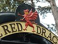 Red Dragon headboard, central crest close-up, GWSR 2016.jpg