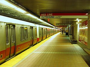 Red Line train outbound at South Station.JPG