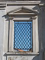 Reformed church (1784-1788), Barred window, Komárno, Slovakia.jpg
