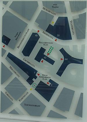 Regjeringskvartalet - Image: Regjeringskvartalet, map 18jun 2005