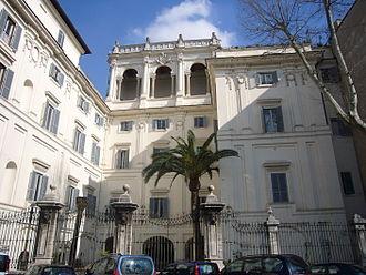 Palazzo Falconieri - Borromini facade facing the Tiber.