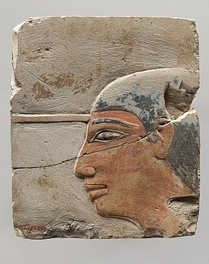 Dagi - Painted relief fragment from his tomb TT103, now at the Metropolitan Museum of Art, New York