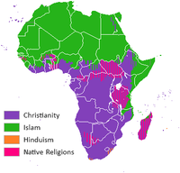Religion distribution Africa crop