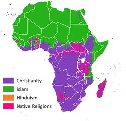 mapa réligions