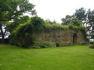 Elphinstone, East Lothian - Image: Remains of Elphinstone Tower (geograph 1961775)
