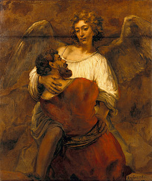 Jacob wrestling with the angel - Image: Rembrandt Jacob Wrestling with the Angel Google Art Project