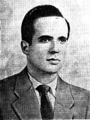 René Ramos Latour - A photo of René Ramos Latour prior to the Cuban Revolution.