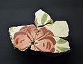 Restes de pintura mural del sostre de la Domus de la Porta Oriental de Lucentum, flor, MARQ.JPG