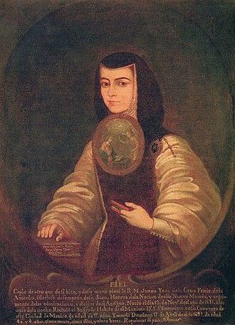 Juana Inés de la Cruz - Sor Juana Inés de la Cruz by Friar Miguel de Herrera (1700-1789),