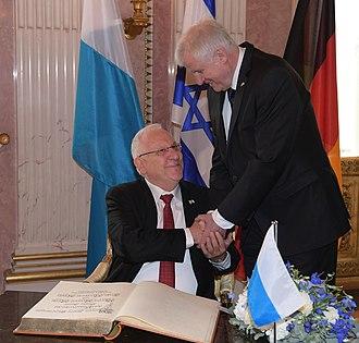 Horst Seehofer - Horst Seehofer and Israeli President Reuven Rivlin, 2017