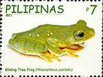 Rhacophorus pardalis 2011 stamp of the Philippines.jpg