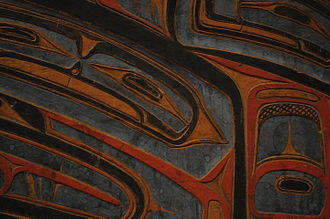 Heiltsuk - Image: Richard Carpenter bent wood chest detail 02