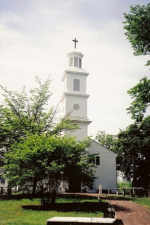 St. John's Episcopal Church is the oldest chur...